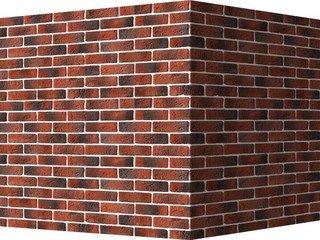 "320-75 White Hills ""Кельн брик"" (Cologne brick), красный, угловой, Нормативная ширина шва 1,2 см."