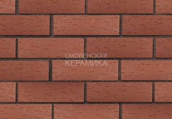 Клинкер фасадный ЛСР «Эдинбург» темно-красный береста 3