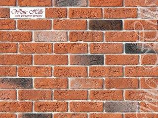 "320-50 White Hills ""Кельн брик"" (Cologne brick), оранжевый, плоскостной, Нормативная ширина шва 1,2"