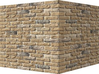 "315-25 White Hills ""Брюгге брик"" (Brugge brick), песочный, угловой, Нормативная ширина шва 1,2 см."