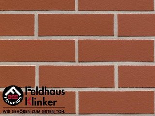 Плитка под кирпич Feldhaus Klinker R400NF9 carmesi liso