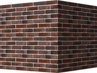 "321-45 White Hills ""Кельн брик"" (Cologne brick), темно-коричневый, угловой, Нормативная ширина шва 1"