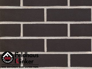 Плитка дляфасада Feldhaus Klinker R700LDF14* anthracit liso