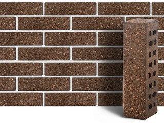 Клинкер фасадный ЛСР «Мюнхен» коричневый береста с песком