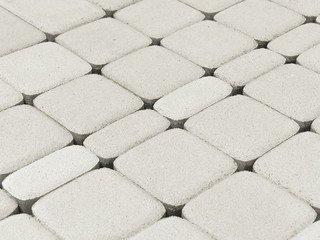 Тротуарная плитка BRAER Классико, Белый
