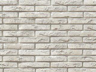 """380-00 White Hills """"Остия Брик"""" (Ostia Brick), белый, плоскостной, Нормативная ширина шва 1,2 см."""