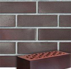 Клинкерная плитка --- Adelajda бургунд гладкая или рифленая Röben Рядовая 71x240 толщина 14