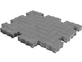 Тротуарная плитка Braer волна серый 240х135х60