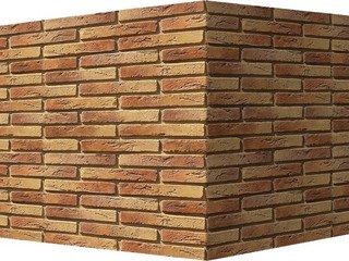 "380-65 White Hills ""Остия Брик"" (Ostia Brick), медный, угловой, Нормативная ширина шва 1,2 см."