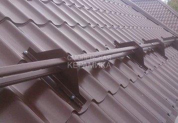 Снегозадержатель трубчатый (3м) BORGE для модулей 350 мм Цвет 7024 BUDMAT Х - Matt 1