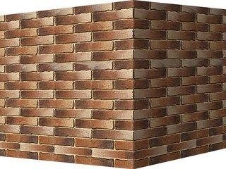 "378-45 White Hills ""Сити Брик"" (Сity brick), темно-коричневый, угловой, Нормативная ширина шва 1,2 с"