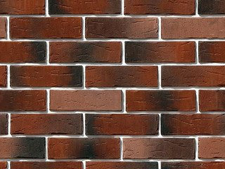 "375-70 White Hills ""Сити Брик"" (Сity brick), красный, плоскостной, Нормативная ширина шва 1,2 см."