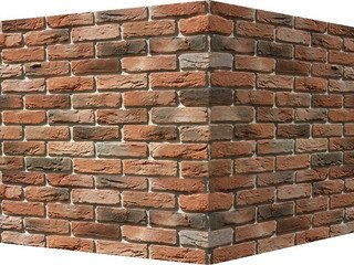 "306-55 White Hills ""Бремен брик"" (Bremen brick), темно-оранжевый, угловой, Нормативная ширина шва 1,"