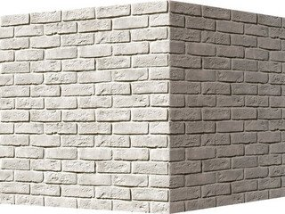 "320-05 White Hills ""Кельн брик"" (Cologne brick), белый, угловой, Нормативная ширина шва 1,2 см."